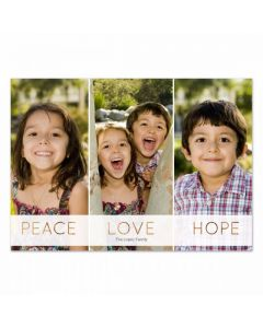 Peace Love Hope Card