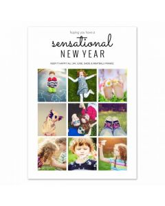 Photocentric New Years Card