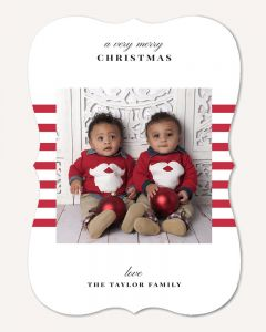Holiday Stripes 5x7 Card