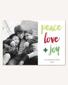 Love and Joy 5x7 Card