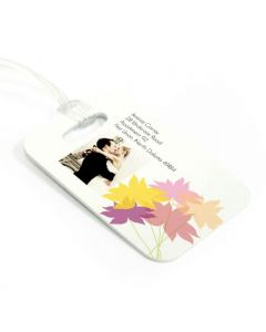 Fanciful Flowers Luggage Tag