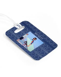 Blue Pattern Luggage Tag