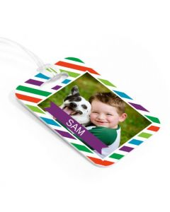 Happy Stripes  Luggage Tag