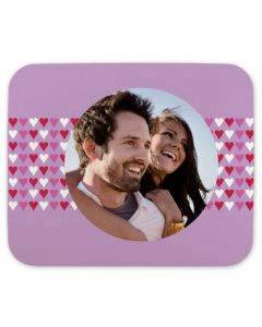 Purple Hearts Mouse Pad