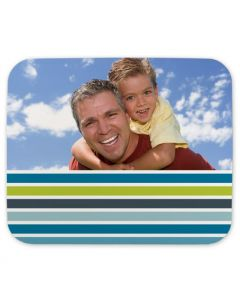 Blue Stripes Mouse Pad