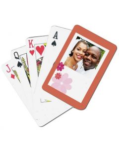 Retro Flowers Custom Playing Cards
