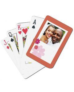 Retro Flowers Custom Playing Cards