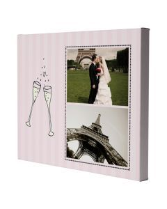Champagne Wrapped Canvas Print