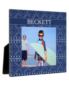 Blue Pattern Photo Panel
