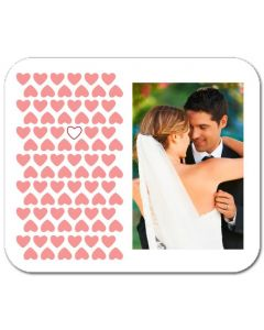 Heart Pattern Mouse Pad