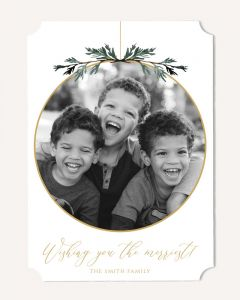 Evergreen Ornament 5x7 Card