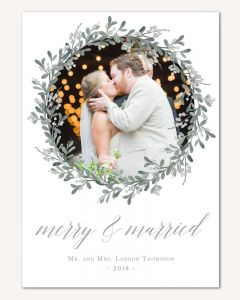 Mistletoe Wreath 5x7 Card