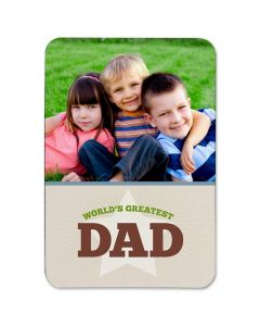 World's Greatest Dad 3.5X5 Magnet