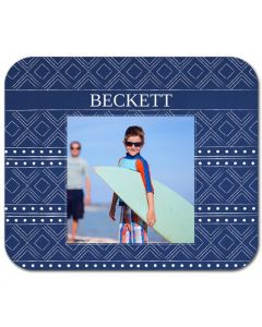 Blue Pattern Mouse Pad