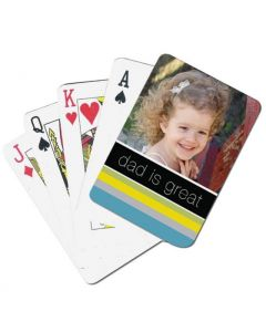 Dad Is Great Custom Playing Cards