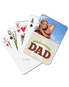 World's Greatest Dad Custom Playing Cards
